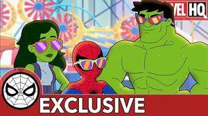 Spidey & She-Hulk Smash Sandcastles! Marvel Super Hero Adventures - From Hulk to Eternity SHORT