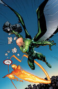 Blackie Drago (Earth-1610) and Johnathan Storm (Earth-1610) from Ultimate Spider-Man Vol 1 129 0001