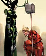 Stark Odinson (Warp World) (Earth-616) and Madame Hel (Warp World) (Earth-616) from Infinity Wars Iron Hammer Vol 1 2 001