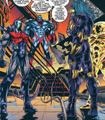 Horsemen of Apocalypse (Earth-295) and En Sabah Nur (Earth-295) from X-Men Alpha Vol 1 1 001