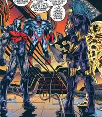 Horsemen of Apocalypse (Earth-295) and En Sabah Nur (Earth-295) from X-Men Alpha Vol 1 1 001