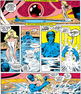 Kurt Wagner (Earth-616) and Anjulie (Earth-1289) from Excalibur Vol 1 16 0001