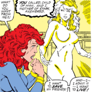 Jean Grey (Earth-616) and Phoenix Force (Earth-616) from Fantastic Four Vol 1 286 001