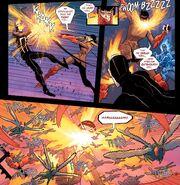 Alejandra Jones (Earth-15513) unleashing Hell Locusts on Roberto Reyes (Earth-15513) from Ghost Racers Vol 1 3
