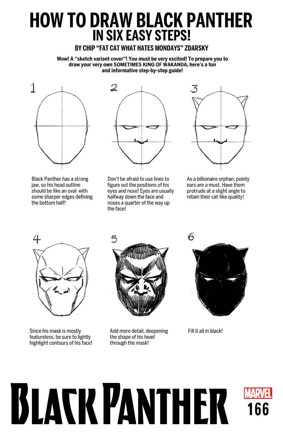 black panther vol 1 166 how to draw variantjpg