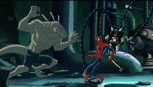 Curtis Connors (Earth-12041), Peter Parker (Earth-12041) and Otto Octavius (Earth-12041) from Ultimate Spider-Man (Animated Series) Season 2 1 001