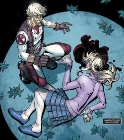 Joshua Foley (Earth-616) and Laurie Collins (Earth-616) from New X-Men Vol 2 25 0001