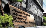 Peter Parker Memorial Science & Technology Building from Vault of Spiders Vol 1 1