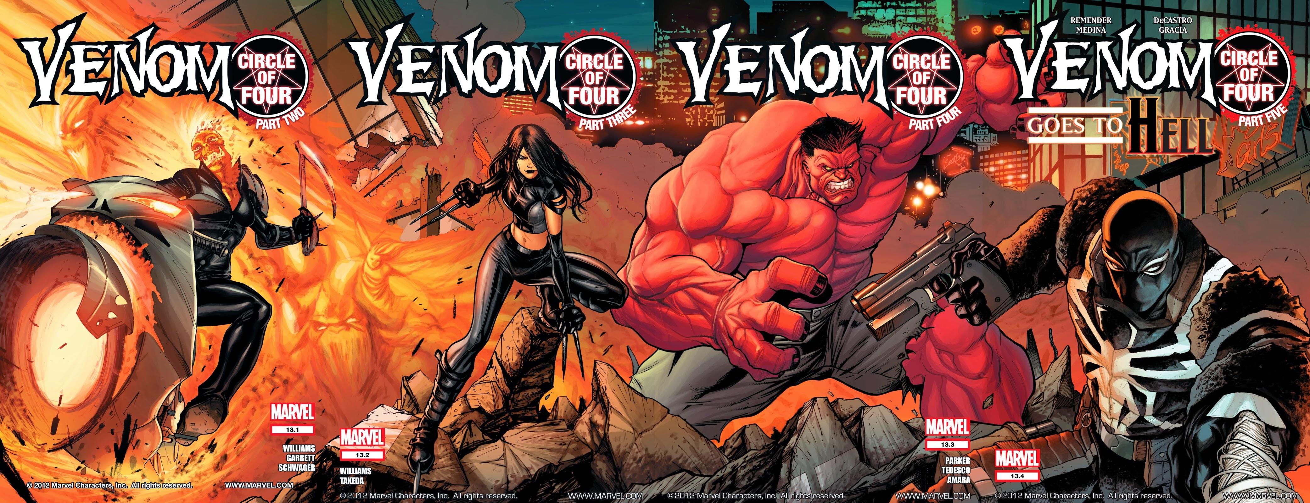 Venom Vol 2 13.1, 13.2, 13.3, and 13.4.jpg