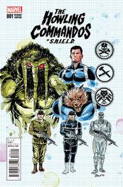 Howling Commandos of S.H.I.E.L.D. Vol 1 1 Design Variant