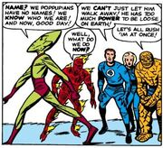 Impossible Man (Earth-616) and Fantastic Four (Earth-616) from Fantastic Four Vol 1 11 001