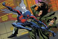 Miguel O'Hara (Earth-928) and Daemos (Earth-001) from Spider-Man 2099 Vol 2 6 001