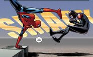 Peter Parker (Earth-616) vs. Miles Morales (Earth-1610) from Spider-Men Vol 1 2 002