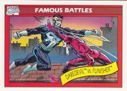 Matthew Murdock vs. Frank Castle (Earth-616) from Marvel Universe Cards Series I 0001