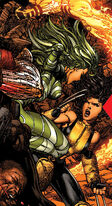 Vertigo (Savage Land Mutate) (Earth-616) and Laura Kinney (Earth-616) from X-Men Vol 2 207 0001