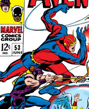 Henry Pym (Earth-616) and Clinton Barton (Earth-616) from Avengers Vol 1 53 (cover)