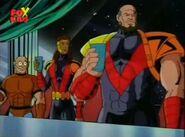 Peter Quinn (Earth-92131), Joanna Cargill (Earth-92131), and Marco Delgado (Earth-92131) from X-Men The Animated Series Season 4 6 001