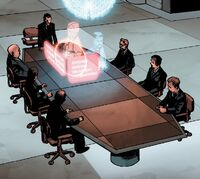 Stark Industries Board of Directors (Earth-616) from Invincible Iron Man Vol 1 594 001