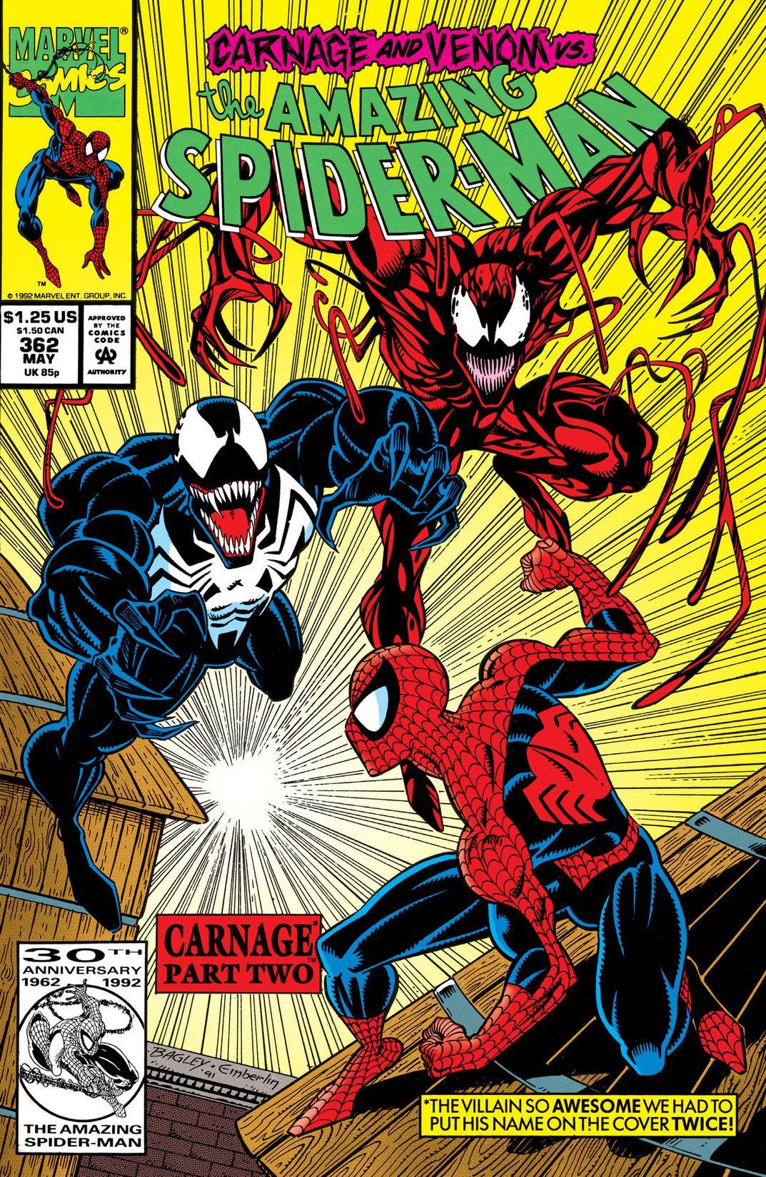 Amazing spider man vol 1 362 marvel database fandom - Images spiderman ...