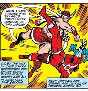 Hermes Diaktoros (Earth-616) and Makkari (Earth-616) from Thor Vol 1 291 001