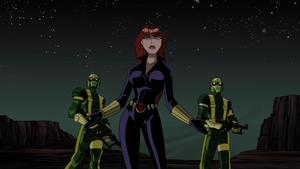 Natasha Romanoff (Earth-8096) and Hydra (Earth-8096) from Avengers Micro Episodes The Hulk Season 1 4 001