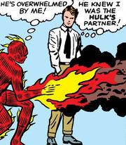 Jonathan Storm (Earth-616) and Richard Jones (Earth-616) from Fantastic Four Vol 1 12 001