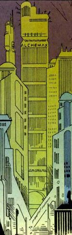 Alchemax Tower from Ravage 2099 Vol 1 22 002