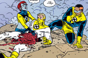 Axel Cluney, Edith Sawyer and Tike Alicar (Earth-616) from X-Force Vol 1 116 0001