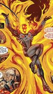 Frank Castle (Earth-TRN666) and Phoenix Force (Earth-616) from Cosmic Ghost Rider Destroys Marvel History Vol 1 3 001