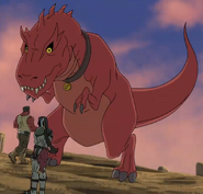 Thaddeus Ross (Earth-12041), Skaar (Earth-12041), and Devil Dinosaur (Earth-12041) from Hulk and the Agents of S.M.A.S.H. Season 1 13 0001