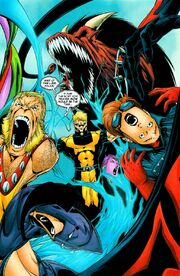 Kevin MacTaggert (Earth-58163), Kevin Sidney (Earth-1081), and Exiles (Multiverse) from Exiles Vol 1 82 001