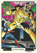 Steven Rogers (Earth-616) and Harlan Ryker (Earth-7484) from Mike Zeck (Trading Cards) 0001