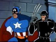 Wolverine (Logan) (Earth-92131) and Steven Rogers (Earth-92131) from X-Men The Animated Series Season 5 11 001
