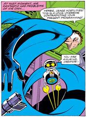 Mister Fantastic versus HERBIE from Fantastic Four Vol 1 217