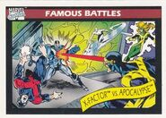 X-Factor vs. En Sabah Nur (Earth-616) from Marvel Universe Cards Series I 0001