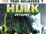 True Believers: Hulk Returns Vol 1