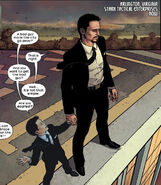 Anthony (Brain tumor) (Earth-1610) and Antonio Stark (Earth-1610) from Ultimate Comics Ultimates Vol 1 11 0001