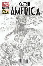 Captain America Vol 7 22 Marvel Comics 75th Anniversary Sketch Variant