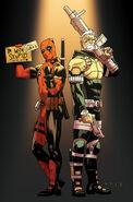 Deadpool & Cable Split Second Vol 1 1 Anka Variant Textless