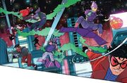 Goblin Club (Earth-192013525), Spider-Gang (Earth-192013525), and Miles Morales (Earth-1610) from Spider-Verse Vol 3 1 001