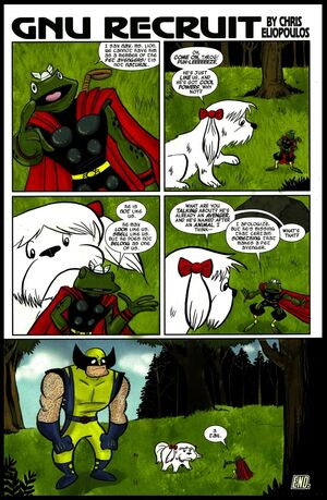 I Am an Avenger Vol 1 1 page 23 Gnu Recruit