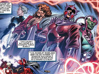 James Howlett (Earth-127) and Brotherhood of Mutants (Earth-127) from Exiles Vol 1 85 0001