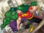 Bruce Banner (Earth-616) and Leonard Samson (Earth-616) from Hulk Vol 2 18 001
