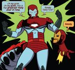 Doreen Green (Earth-616) with borrowed Iron Man Armor from Unbeatable Squirrel Girl Vol 1 2 001