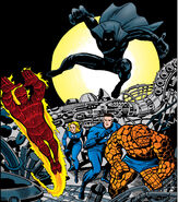 Fantastic Four vs the Black Panther from Fantastic Four Vol 1 52