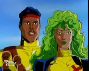 Lorna Dane (Earth-92131) and Forge (Earth-92131) from X-Men The Animated Series Season 3 15 001