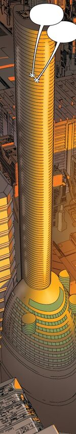 Oscorp Tower from Spider-Man 2099 Vol 2 6 001