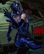 Shadowstalker (Earth-616) and James Howlett (Earth-616) from Wolverine Vol 4 11 0001