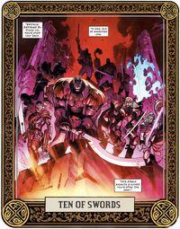 Ten of Swords from X of Swords Creation Vol 1 1 001