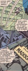 57th Street from Uncanny X-Men and The New Teen Titans Vol 1 1 001